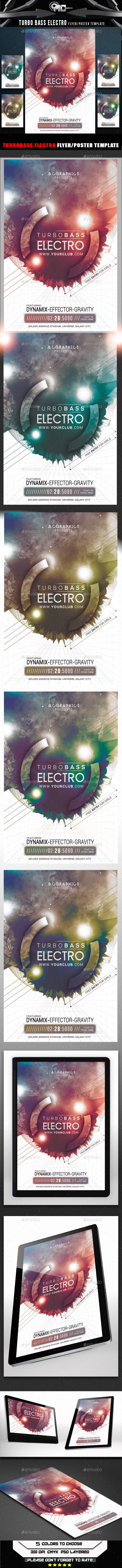 GraphicRiver Turbo Bass Electro Flyer Template 9919931