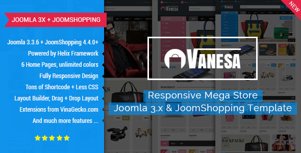 Vanesa Mega Store Responsive Joomla Template