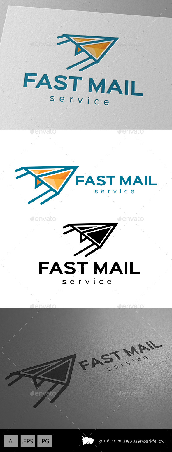 GraphicRiver Fast Mail Services Logo 9920104
