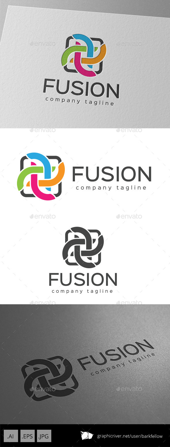 GraphicRiver Color Fusion Logo 9920208