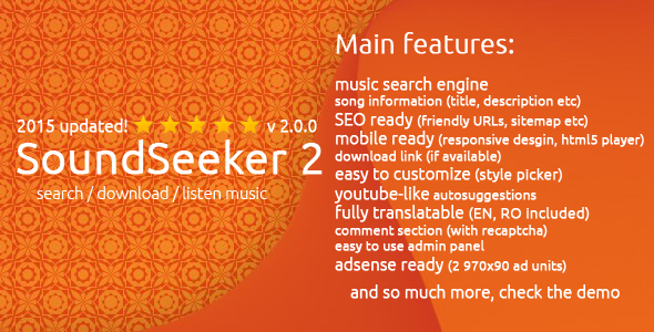 SoundSeeker 2 - Music Search Engine - CodeCanyon Item for Sale