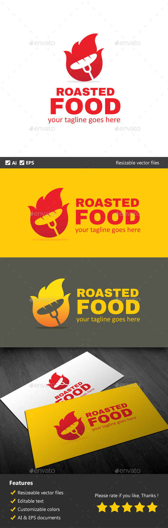GraphicRiver Roasted Food 9920292
