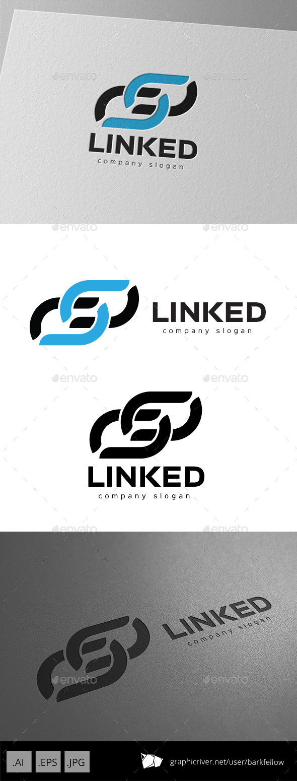 GraphicRiver Link and Connect Logo 9920296