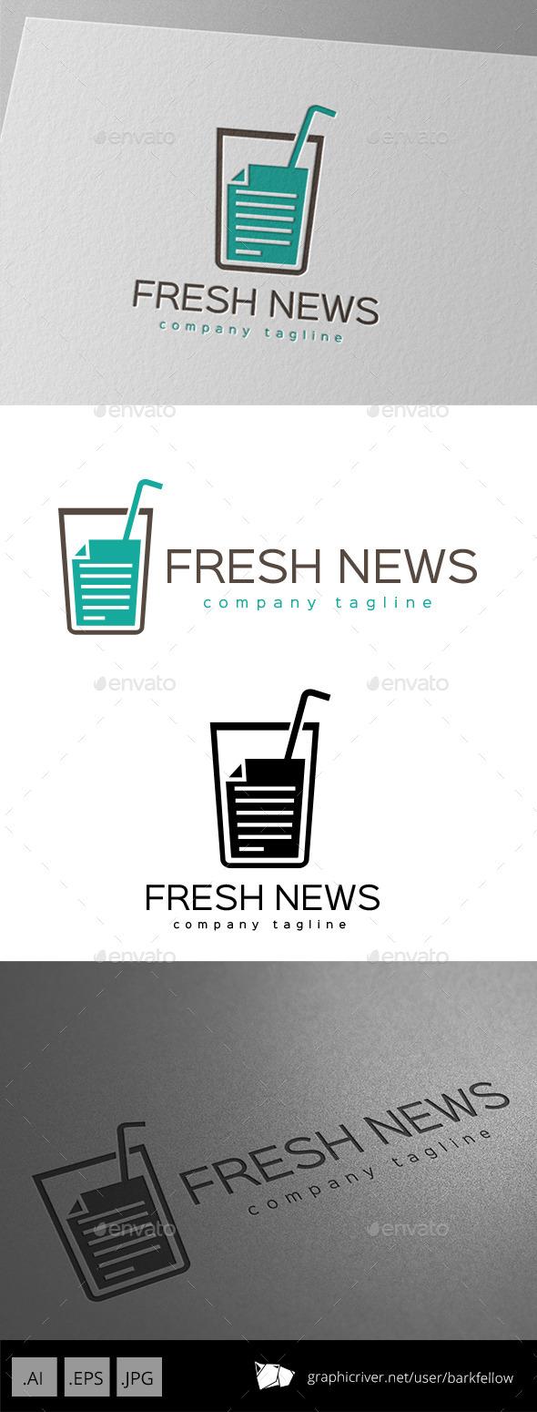 GraphicRiver Fresh News Logo Design 9920301