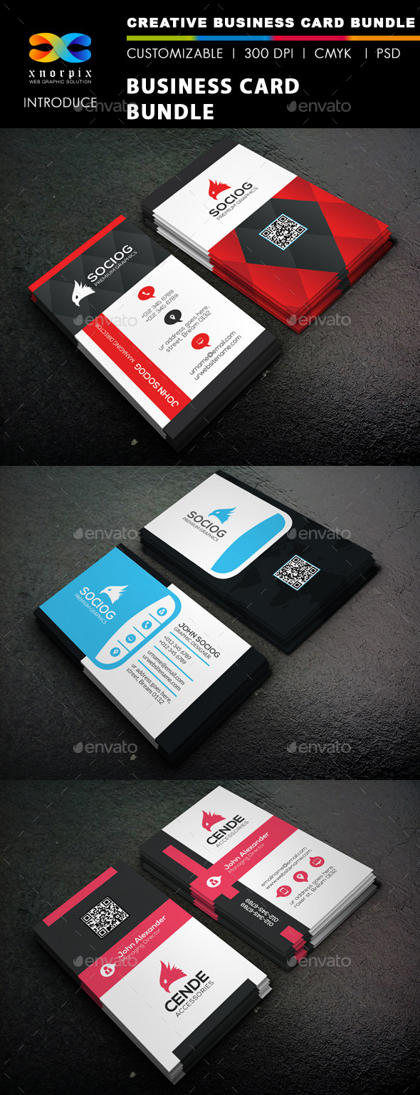 GraphicRiver Business Card Bundle 3 in 1-Vol 46 9920328