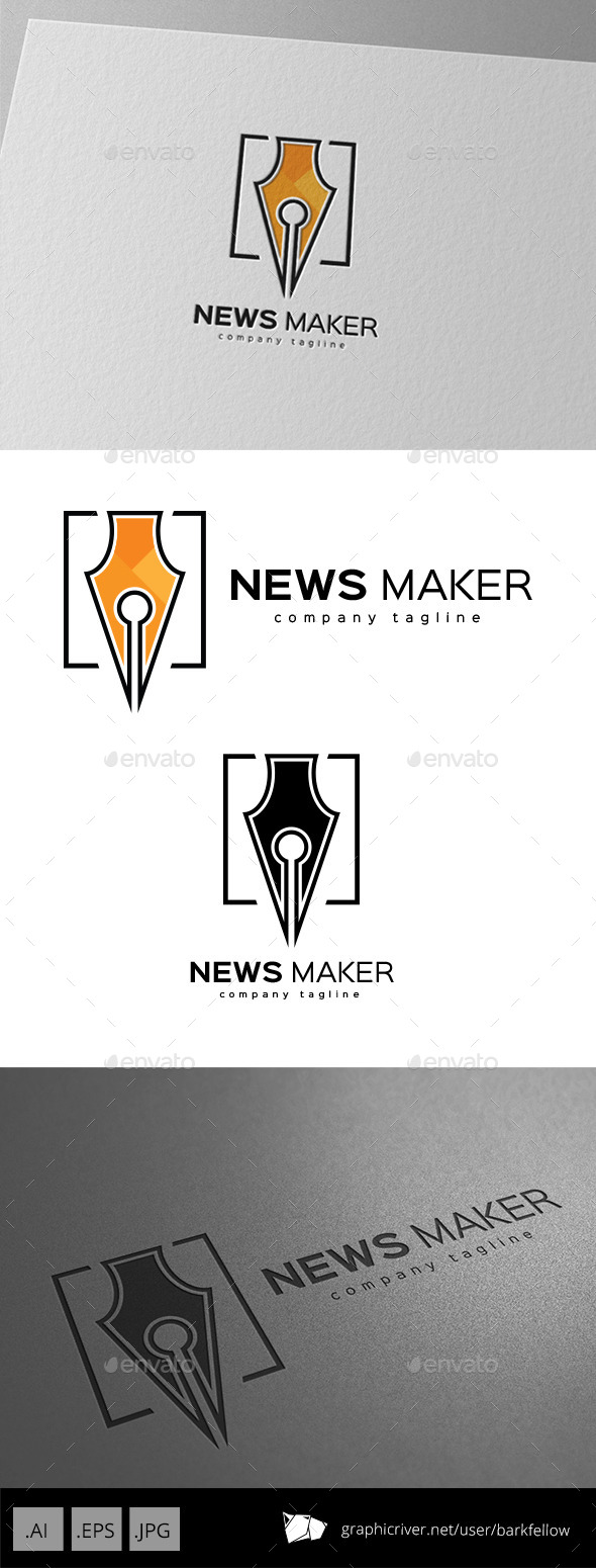 GraphicRiver Content Writer Logo Design 9920420