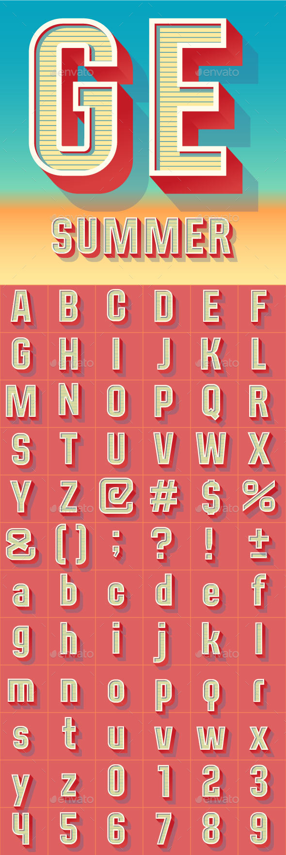 GraphicRiver Summer Compact Alphabet 9921093