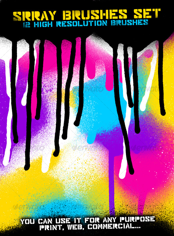 Spray Brused Set - Grunge Brushes