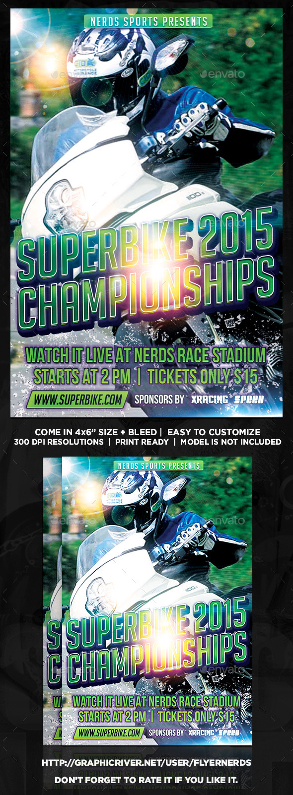 GraphicRiver Superbike 2015 Championships Sports Flyer 9911517