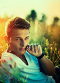 Handsome young man enjoying nature outdoors - PhotoDune Item for Sale