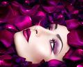 High fashion vogue style model portrait with rose petals - PhotoDune Item for Sale