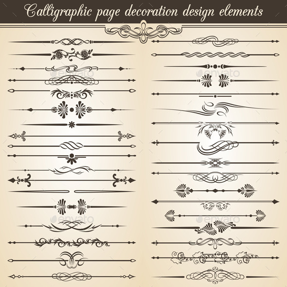 GraphicRiver Calligraphic Vintage Page Decoration Design 9923138