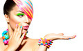 Beauty Woman Portrait with Colorful Makeup, Hair and Accessories - PhotoDune Item for Sale