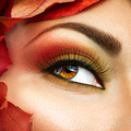 Autumn make up for brown eyes. Closeup fashion makeup - PhotoDune Item for Sale