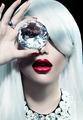 Portrait of beauty model girl with a big diamond - PhotoDune Item for Sale