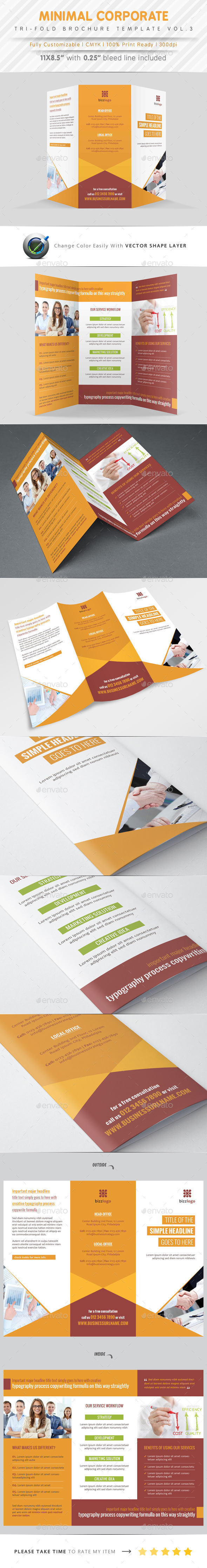 GraphicRiver Minimal Tri Fold Vol.3 9923814