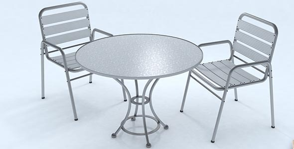 3DOcean Bar table set 9923970