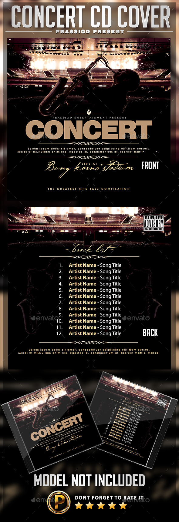 GraphicRiver Concert Live CD Cover Template 9923980