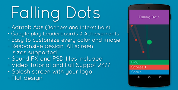 CodeCanyon Falling Dots Admob & Leaderboards & Share 9912520