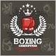 Boxing labels and icons set. Vector illustration. - GraphicRiver Item for Sale