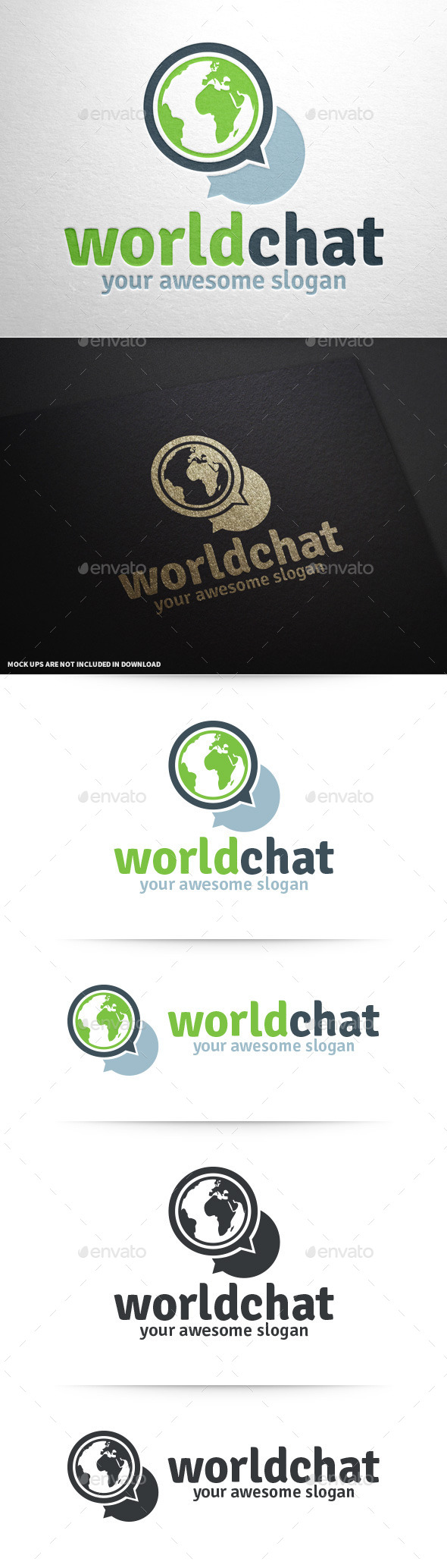 GraphicRiver World Chat Logo Template 9924565
