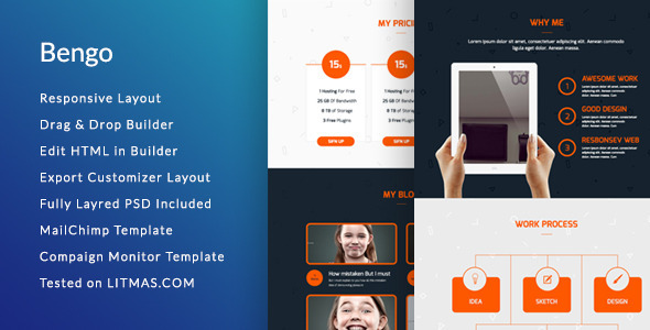ThemeForest Bengo Responsive Email Template & Builder Access 9924733