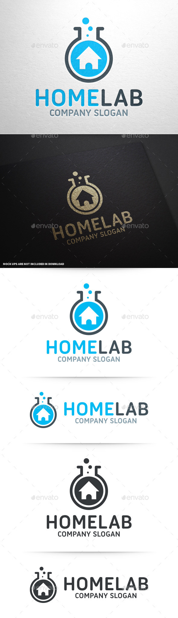 GraphicRiver Home Lab Logo Template 9924904
