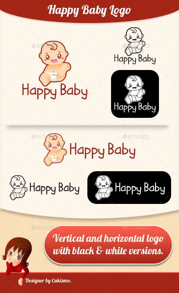GraphicRiver Happy Baby Logo 9924988
