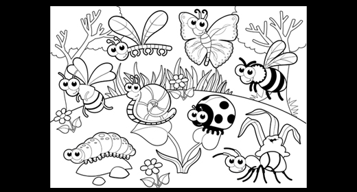BLACK & WHITE Illustrations