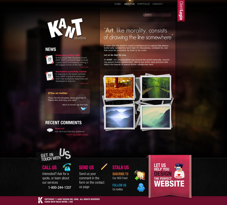 Impact - a PSD Theme - Home page