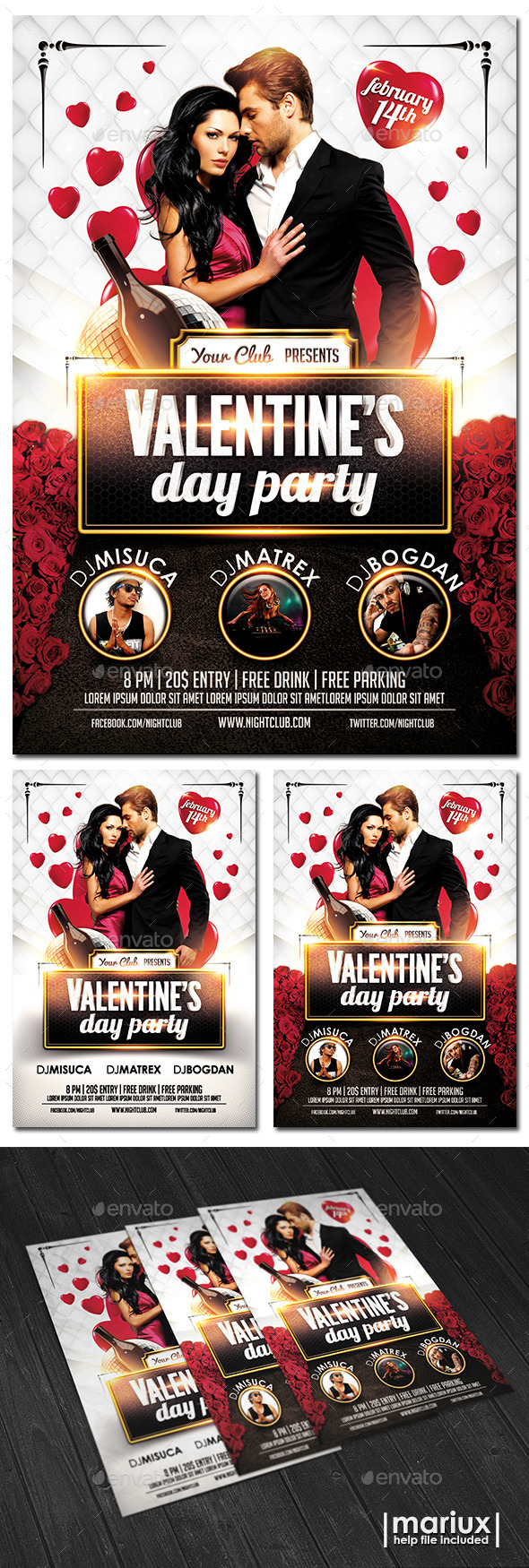 GraphicRiver Valentine s Day Party Flyer 9925361