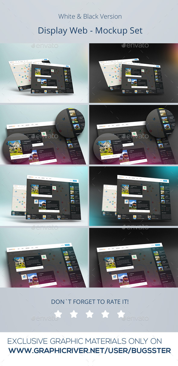 Realistic Display Web Mockup