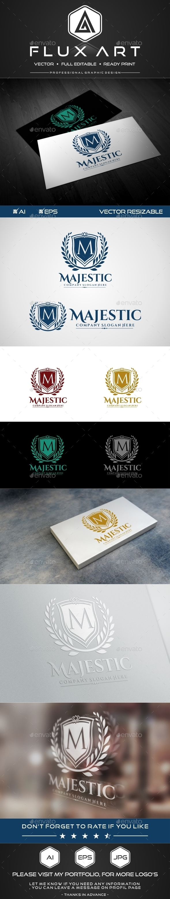 GraphicRiver Majestic Luxury Logo 9925988