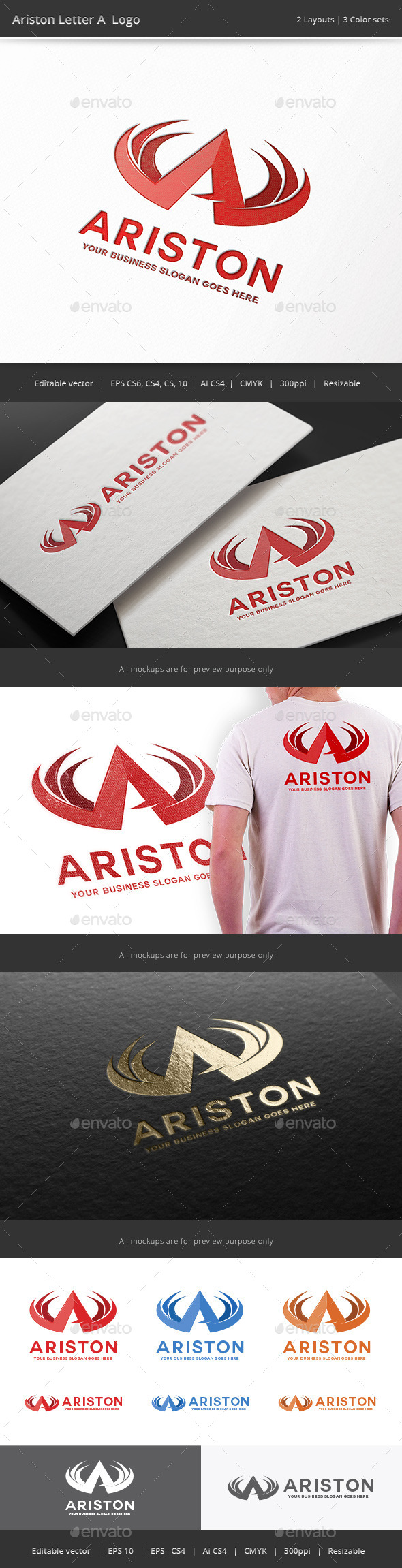 GraphicRiver Ariston Letter A Logo 9926072