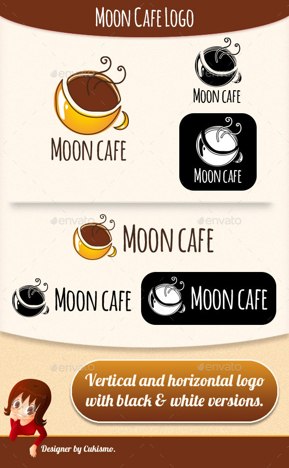 GraphicRiver Moon Cafe Logo 9926286