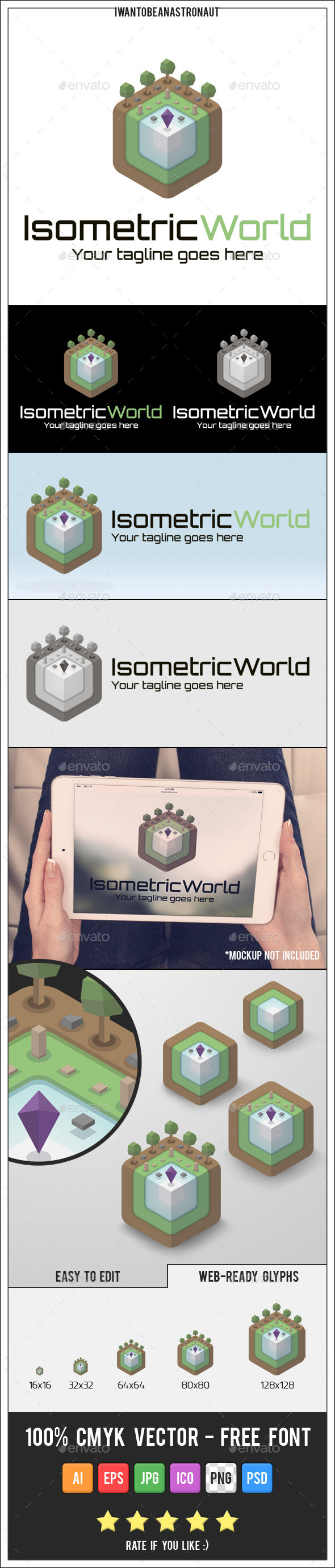 Isometric World Logo