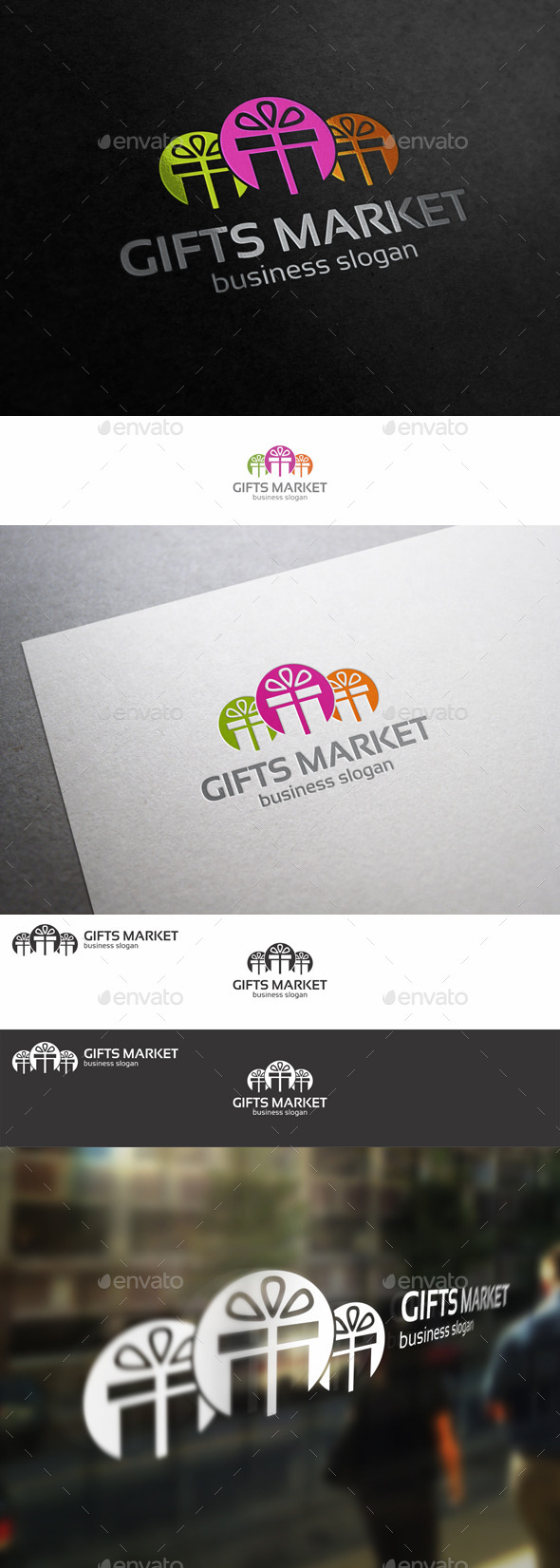 GraphicRiver Gifts Shop Market Logo 9927103