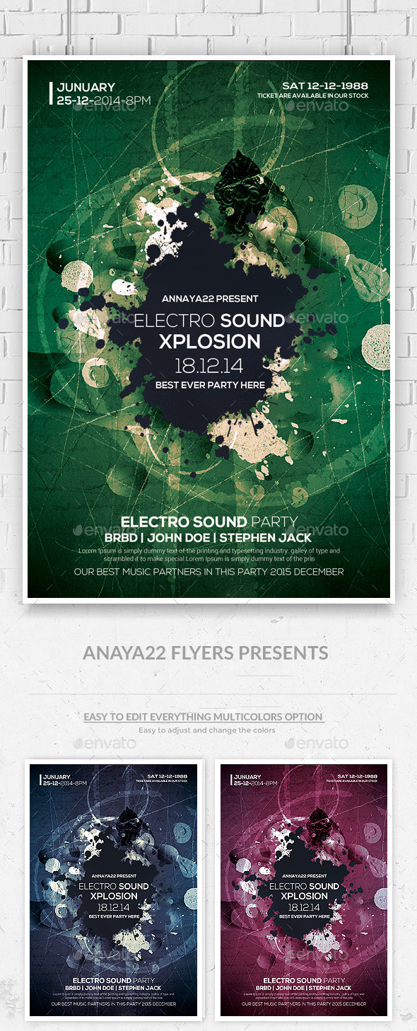 Abstract Future Flyer Templates