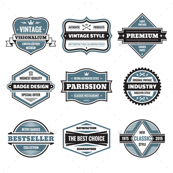 GraphicRiver 9 Labels and Badges 9927766