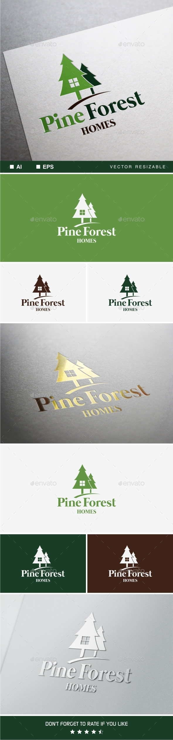 GraphicRiver Pine Forest Home Logo 9927767