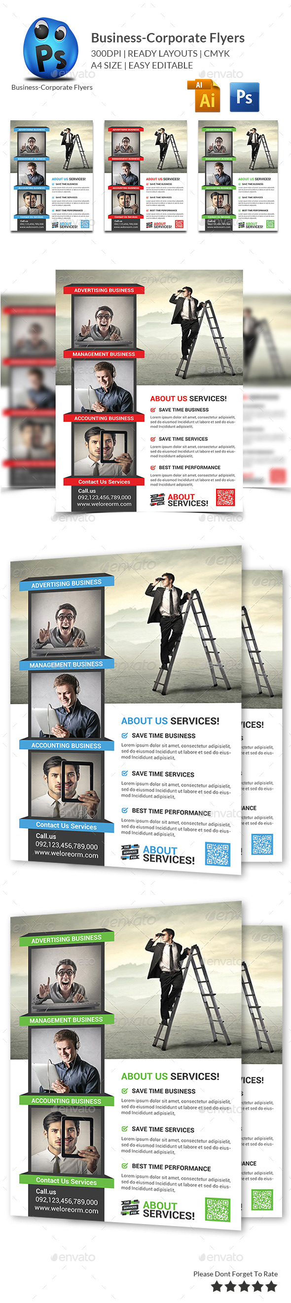 GraphicRiver Corporate Business Flyer Template 9927818