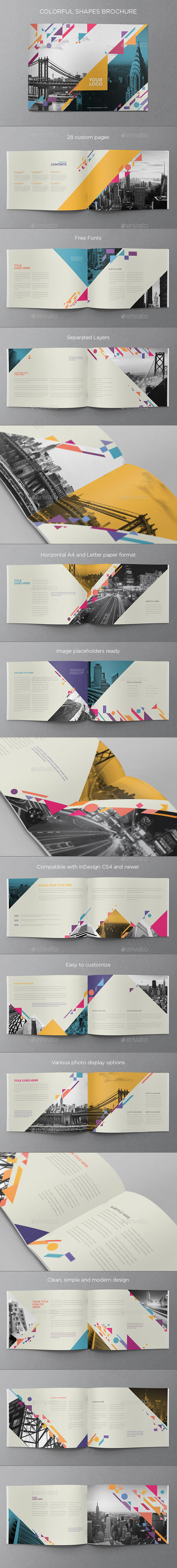 GraphicRiver Colorful Shapes Brochure 9927862
