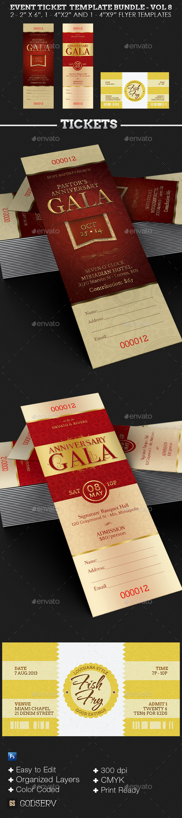 GraphicRiver Event Ticket Template Bundle Volume 8 9927878