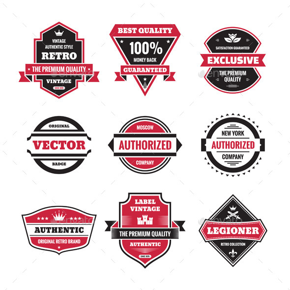GraphicRiver 9 Labels and Badges 9928187