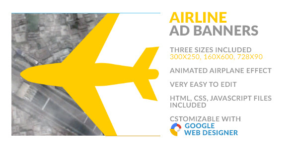 CodeCanyon Airline HTML5 Ad Banner 9928321