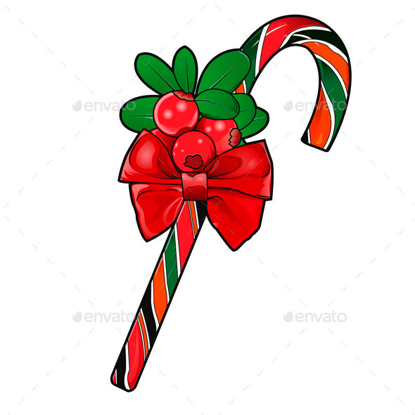 GraphicRiver Christmas Cane 9928410