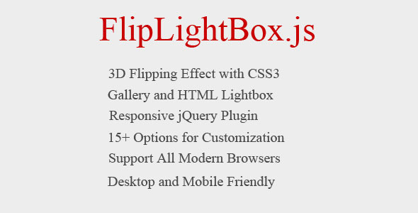 Flipping Lightbox 3D with jQuery and CSS3