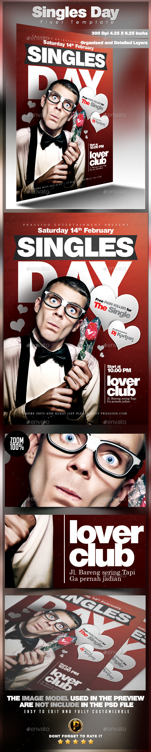 GraphicRiver Singles Day Flyer Template 9928828