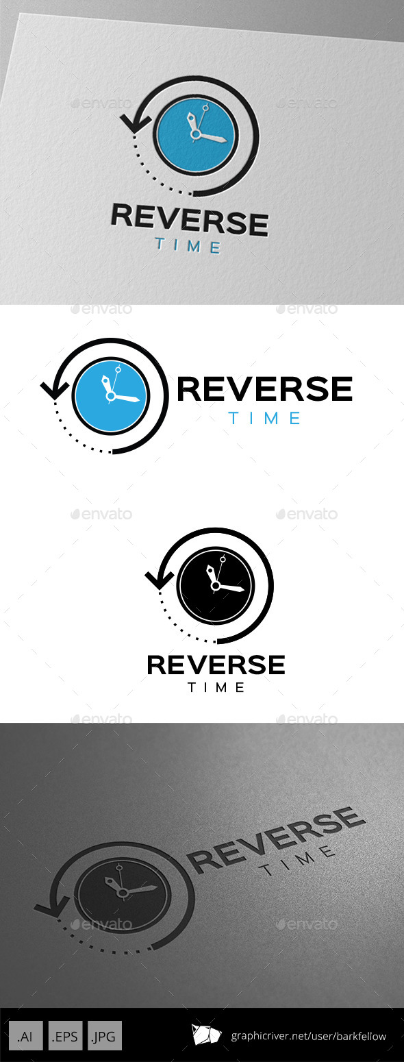Reverse Time Logo Design