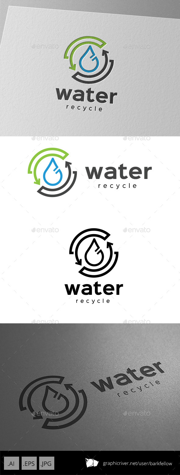 GraphicRiver Recycle Water Logo Design 9929125